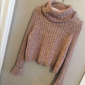 Free people pink knit sweater size small 😍
